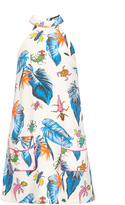 House of Holland Insect-print halterneck dress