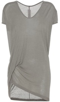 Rick Owens T-shirt With Draped Detailing