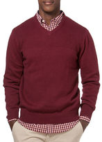 Chaps Combed Cotton V-Neck Sweater