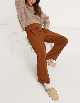 Moon River belted pants in brown