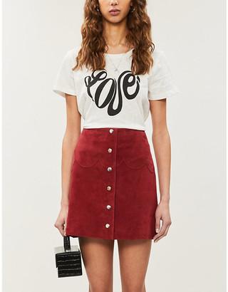 Claudie Pierlot Tartinee text-print cotton-jersey T-shirt