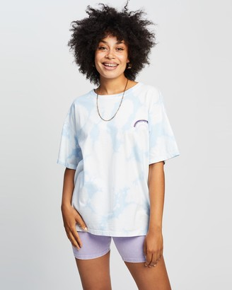 Love And Nostalgia Clouds and Cream Tie-Dye Print Tee