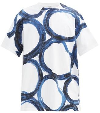 Loewe Circle-print Cotton-jersey T-shirt - White