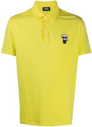 Karl Lagerfeld Paris Motif polo shirt