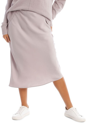Milk and Honey Mauve Smoke Slip Skirt