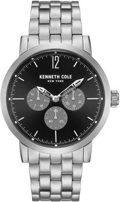 Kenneth Cole New York Dress Sport Stainless Steel Black Dial Chronograph Watch