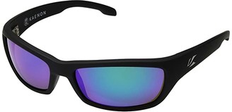 Kaenon Cowell (Black Matte Grip/Ultra Coastal Green Mirror) Fashion Sunglasses