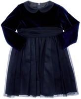 Il Gufo VELVET & STRETCH TULLE DRESS