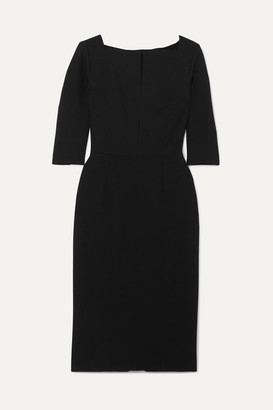 Roland Mouret Etty Crepe Midi Dress - Black