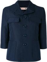 Marni single breasted jacket - women - Silk/Cotton - 38