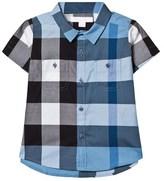 Burberry Pale Blue Check Short Sleeve Shirt