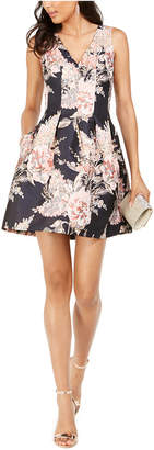 Vince Camuto Textured Jacquard Fit & Flare Dress