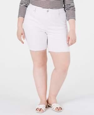 Seven7 Jeans Trendy Plus Size Weekend Color Denim Bermuda Shorts