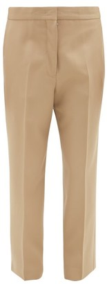Jil Sander Lang Cropped Straight-leg Wool Trousers - Camel