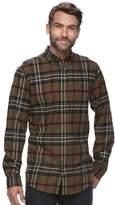 Croft & Barrow Big & Tall True Comfort Plaid Classic-Fit Flannel Button-Down Shirt