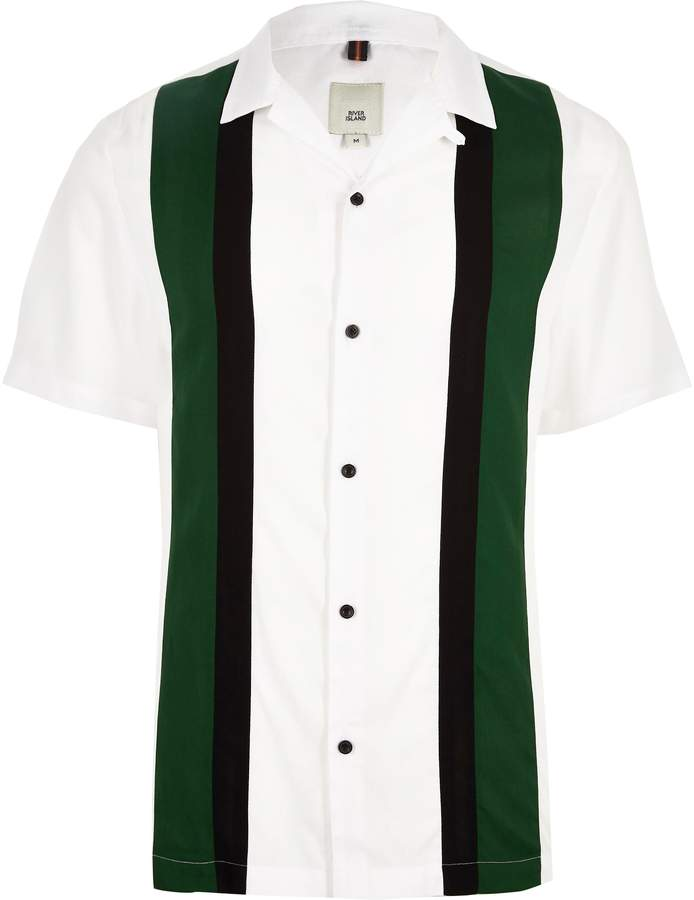 River Island White short sleeve colour block shirt