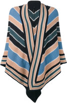 Antonia Zander striped poncho