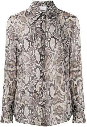 Magda Butrym Snake Print Shirt