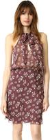 Nili Lotan Blossom Print Tie Neck Dress
