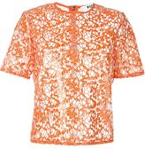 MSGM sequinned lace boxy top