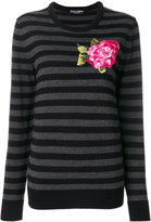 Dolce & Gabbana embroidered applique flower jumper