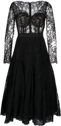 Alexander McQueen Flared Lace Dress