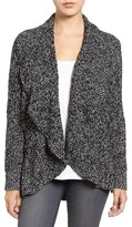 Chaus Women's Cable Stitch Drape Front Cardigan
