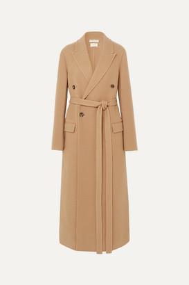 Bottega Veneta Double-breasted Belted Cashmere Coat - Camel