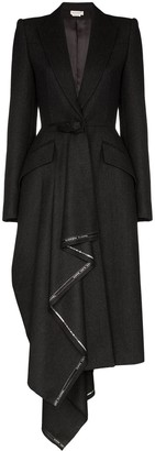 Alexander McQueen Draped Wool Coat