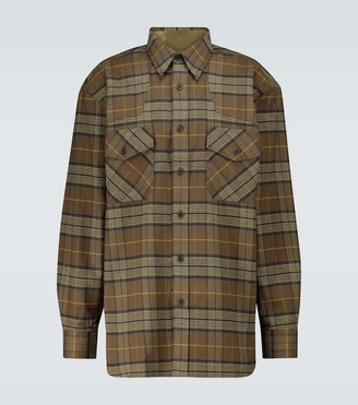 Dries Van Noten Checked flannel long-sleeved shirt