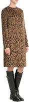 Salvatore Ferragamo Wool-Alpaca Leopard Print Coat