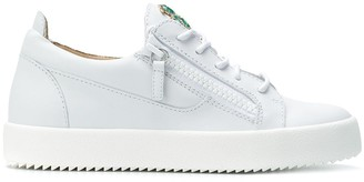 Giuseppe Zanotti Crystal Palm Embellished Sneakers