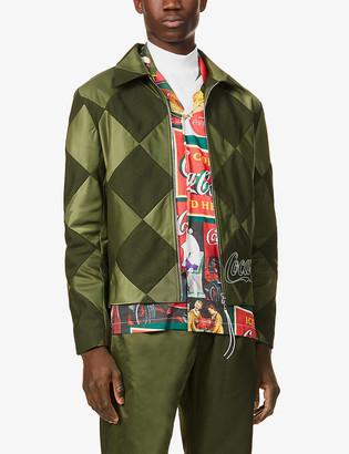 clothsurgeon x Coca-Cola patchwork wool-blend and satin jacket