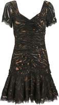 Jonathan Simkhai Metallic Lace Ruffle Dress
