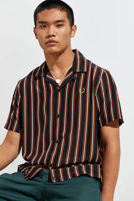 Fred Perry Striped Bowling Short Sleeve Button-Down Shirt