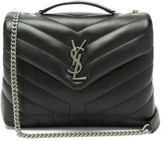Saint Laurent Loulou Small Quilted Shoulder Bag - Womens - Black