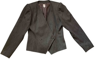 Ungaro Grey Wool Jacket for Women Vintage