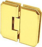 CR Laurence CRL Gold Plated Monaco 180 Series 180 Degree Glass-to-Glass Hinge Swings In and Out