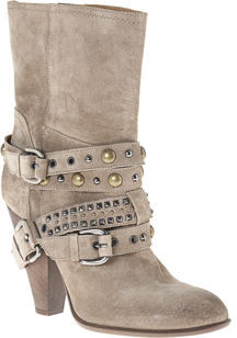Barneys New York CO-OP Studded Buckle Ankle Boot - Taupe