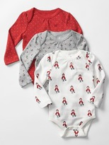 Gap Picot-trim printed bodysuit (3-pack)