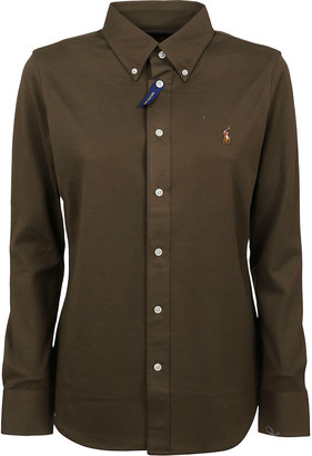 Ralph Lauren Military Green Cotton Shirt