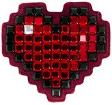 Anya Hindmarch Heart sticker - women - Suede/Acetate/Crystal - One Size