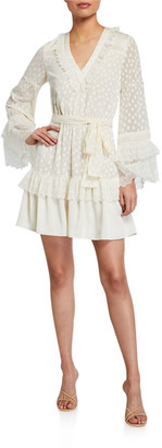 Alexis Katerina Ruffle Long-Sleeve Dress