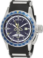 Invicta Men's Aviator Flight GMT Dial Black Polyurethane Watch 1754
