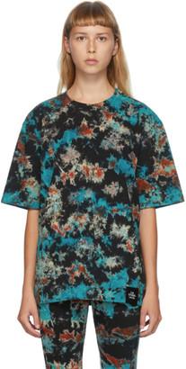 S.R. STUDIO. LA. CA. Multicolor Tie-Dye Flame T-Shirt