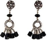 Stephen Dweck Sterling Onyx Chandelier Earrings