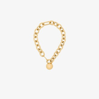 Jil Sander Gold-Plated Sphere Chain Necklace