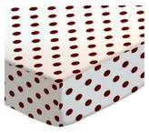 SheetWorld Fitted Pack N Play (Graco) Sheet - Burgundy Polka Dots - Made In USA - 27 inches x 39 inches (68.6 cm x 99.1 cm)