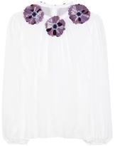 Dolce & Gabbana Embellished Silk Blouse