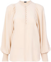 Joseph puffy sleeves buttoned blouse - women - Silk - 36